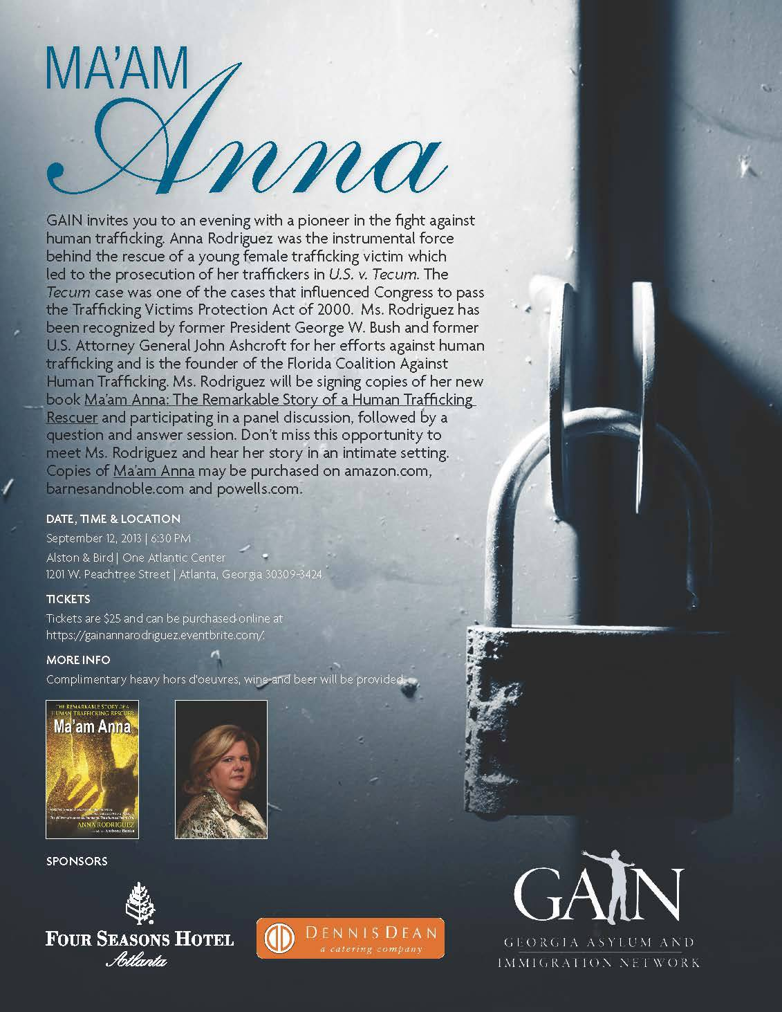 September 12th Book Signing with Anna Rodriguez