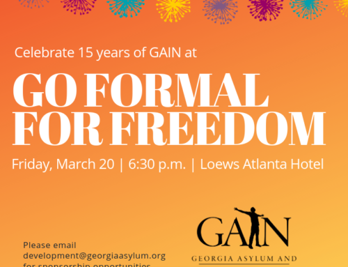 Celebrate 15 years of GAIN at the Go Formal For Freedom Gala on March 20, 2020!