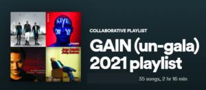 GAIN Un-Gala 2021 Playlist
